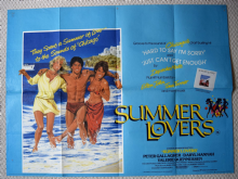 Summer Lovers, Original UK Quad Poster, Pete Gallagher, Daryl Hannah, '82